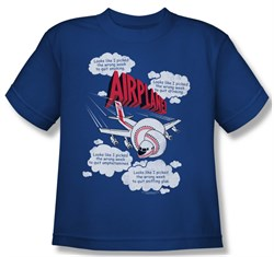 Image of Airplane Shirt Juniors Picked The Wrong Day Royal Blue Tee T-Shirt
