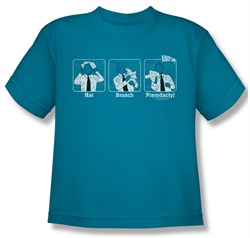Image of Airplane Shirt Kids Johnny Improv Turquoise Youth Tee T-Shirt