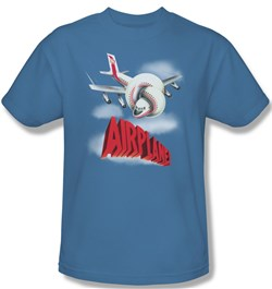 Image of Airplane Shirt Logo Adult Carolina Blue Tee T-Shirt