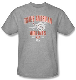 Image of Airplane Shirt Trans American Adult Athletic Heather Tee T-Shirt