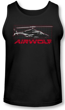 Image of Airwolf Grid Tank Top Shirt Black Tee T-Shirt