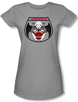 Image of Airwolf Juniors T-shirt Patch Silver Tee Shirt