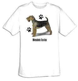 Image of Airedale Terrier T-shirt Dog Adult Tee Shirt