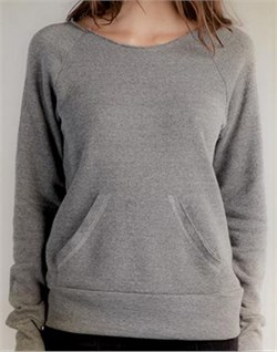 Image of Alternative Apparel Ladies Sweatshirt Flashdance Grey Sweat Shirt