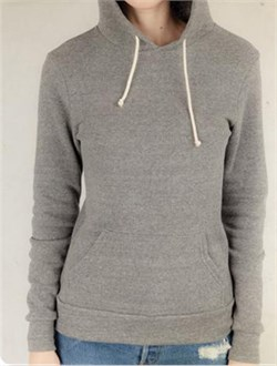 Alternative Apparel Ladies Hoodie Sweatshirt Hoodlum Eco Grey Hoody