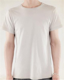 Image of Alternative Apparel Shirt Tear-Away Mens Tee Silver