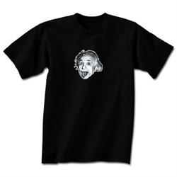 Image of Albert Einstein Shirt Little Einstein Adult Black T-shirt