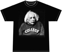 Image of Albert Einstein Shirt Science College T-shirt
