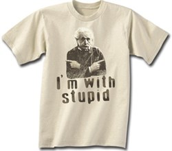 Image of Albert Einstein Shirt Stupid Adult T-shirt