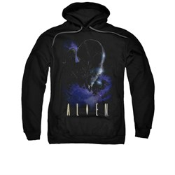 Image of Alien Hoodie Galaxy Black Sweatshirt Hoody