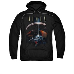 Image of Alien Hoodie Ship Black Sweatshirt Hoody