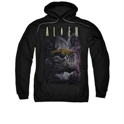 Image of Alien Hoodie Victim Black Sweatshirt Hoody