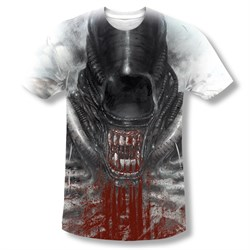 Image of Alien Shirt Bloody Drool Sublimation Shirt