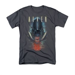 Image of Alien Shirt Bloody Jaw Charcoal T-Shirt