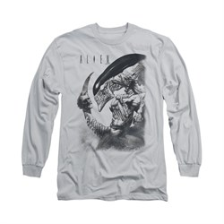 Image of Alien Shirt Decapitated Long Sleeve Silver Tee T-Shirt