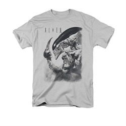 Image of Alien Shirt Decapitated Silver T-Shirt