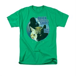Image of Alien Shirt Don't Care Kelly Green T-Shirt