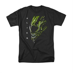 Image of Alien Shirt Drool Black T-Shirt