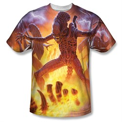 Image of Alien Shirt Lightning And Fire Sublimation Shirt