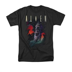 Image of Alien Shirt Mouths Black T-Shirt
