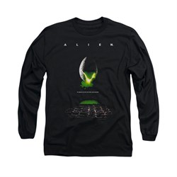 Image of Alien Shirt Movie Poster Long Sleeve Black Tee T-Shirt