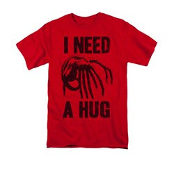 Image of Alien Shirt Need A Hug Red T-Shirt