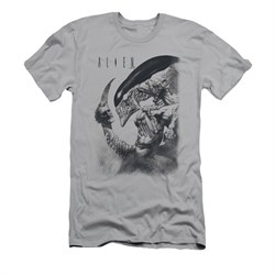Image of Alien Shirt Slim Fit Decapitated Silver T-Shirt