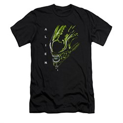 Image of Alien Shirt Slim Fit Drool Black T-Shirt