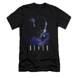 Image of Alien Shirt Slim Fit Galaxy Black T-Shirt