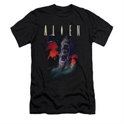 Image of Alien Shirt Slim Fit Mouths Black T-Shirt