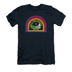 Image of Alien Shirt Slim Fit Nostromo Navy T-Shirt