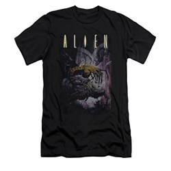 Image of Alien Shirt Slim Fit Victim Black T-Shirt