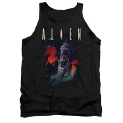 Image of Alien Shirt Tank Top Mouths Black Tanktop