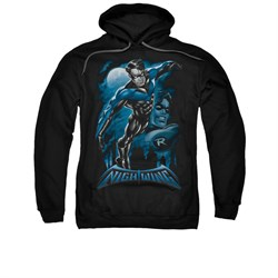 Image of All Grown Up DC Comics Hoodie Sweatshirt All Grown Up Black Adult Hoody Sweat Shirt