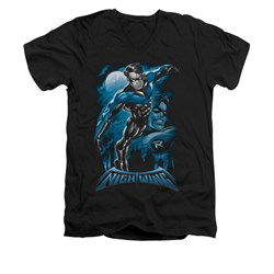 All Grown Up DC Comics Shirt All Grown Up Slim Fit V Neck Black Tee T-Shirt