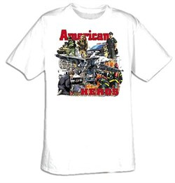 All American Heroes T-Shirts - Patriotic USA Adult Tee