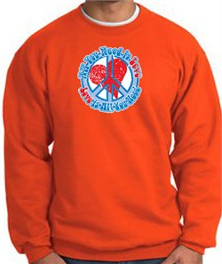 Image of Peace Sign Sweatshirt - All You Need Is Love - Orange