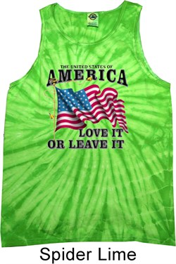 Image of America Love It or Leave It Tie Dye Tank Top