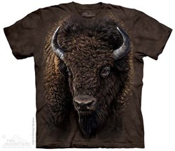 Image of American Buffalo Shirt Tie Dye Adult T-Shirt Tee