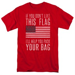 Image of American Flag Shirt Pack Your Bag Red T-Shirt