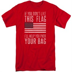 Image of American Flag Shirt Pack Your Bag Red Tall T-Shirt