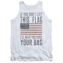 Image of American Flag Tank Top Pack Your Bag White Tanktop