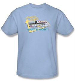 Image of American Graffiti T-shirt Movie Mels Drive In Adult Light Blue Shirt