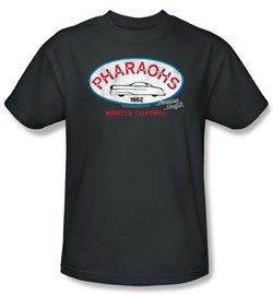 Image of American Graffiti T-shirt Movie Pharaohs Adult Charcoal Tee Shirt