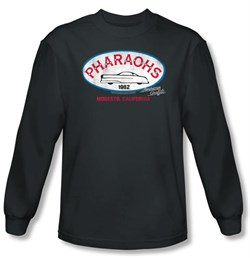 Image of American Graffiti T-shirt Movie Pharaohs Charcoal Long Sleeve Tee