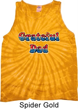 Image of American Grateful Dad Tie Dye Tank Top
