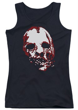 Image of American Horror Story Juniors Tank Top Bloody Face Black Tanktop