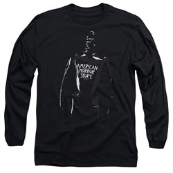 Image of American Horror Story Long Sleeve Shirt Rubber Man Black Tee T-Shirt
