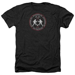 Image of American Horror Story Shirt Coven Minotaur Sigil Heather Black T-Shirt