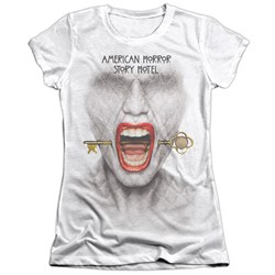 Image of American Horror Story Shirt Fear Face Poly/Cotton Sublimation Juniors T-Shirt